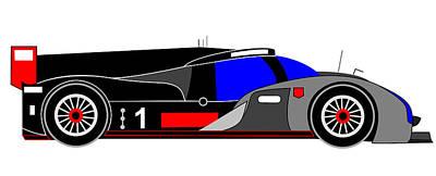 Audi R18 Digital Art - Le Mans 2011 Audi R18 Number 1 by Asbjorn Lonvig