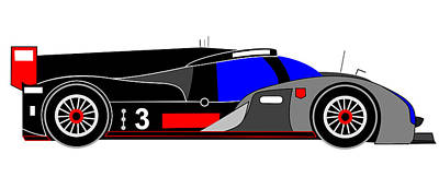 Audi R18 Digital Art - Le Mans 2011 Audi R18 Number 3 by Asbjorn Lonvig