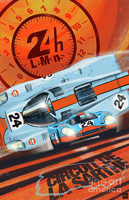 Painting - Le Mans 24h by Sassan Filsoof