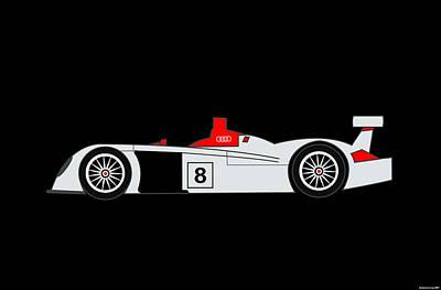 Le Mans Audi R8 Art Print by Asbjorn Lonvig