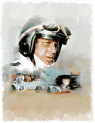 Painting - Le Mans IIi Steve Mcqueen by Iconic Images Art Gallery David Pucciarelli