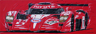 Roberto Painting - Le Mans Toyota 27 by Roberto Muccilo