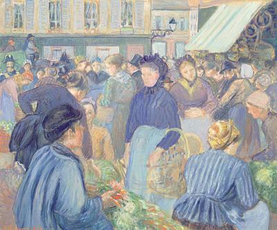 Le Marche De Gisors Art Print
