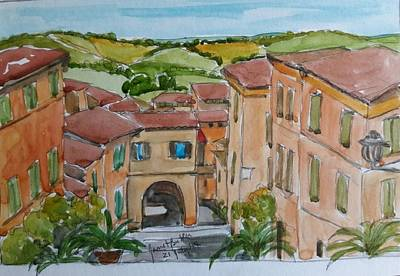 Painting - Le Marche, Italy by Janet Butler