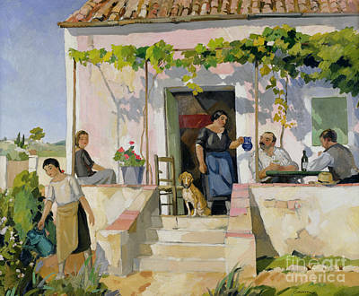 The Dog House Painting - Le Mazet by Armand Coussens