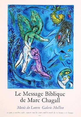 Mourlot Painting - Le Message Biblique by Marc Chagall