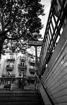 Le Metro From Below Art Print by Kathy Yates