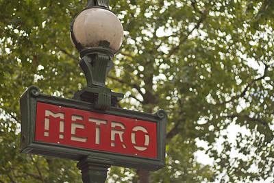 Paris Photograph - Le Metro by Georgia Fowler