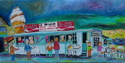 Painting - Le Michigan Route 11 St. Agathe. by Michael Litvack