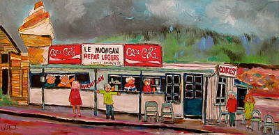 St. Agathe Painting - Le Michigan St. Agathe 1965 by Michael Litvack