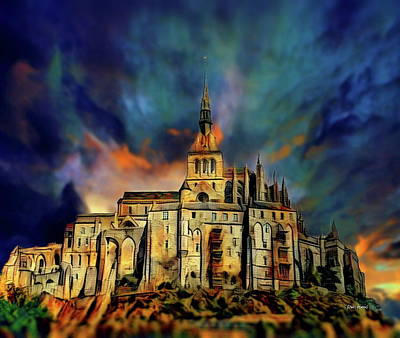 Cathedral Rock Digital Art - Le Mont-saint-michel by Russ Harris