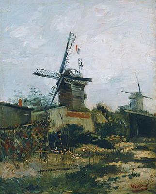 Eco-tourism Painting - Le Moulin De Blute Fin, 1886 by Vincent Van Gogh