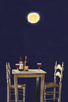 Vinos Painting - Le Ombre Della Luna by Guido Borelli