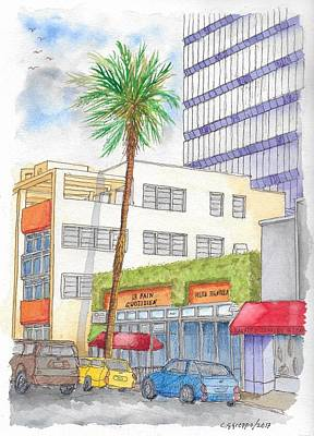 Painting - Le Pain Quotidien In Beverly Hills, California by Carlos G Groppa