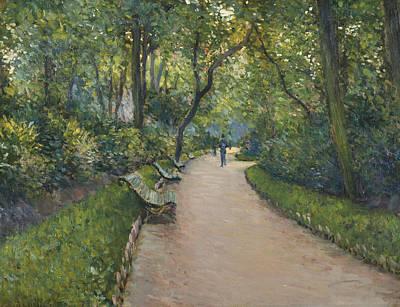 Painting - Le Parc Monceau by Gustave Caillebotte