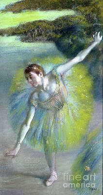 Pastel - Le Pas Sur La Scene by Edgar Degas