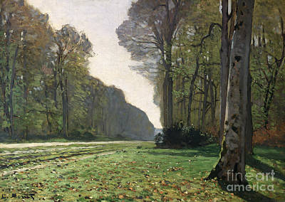 Tree Oil Painting - Le Pave De Chailly by Claude Monet