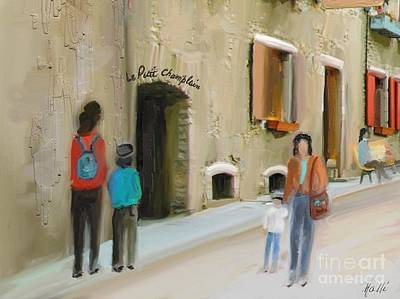 Quebec Streets Painting - Le Petit Champlain by Aline Halle-Gilbert