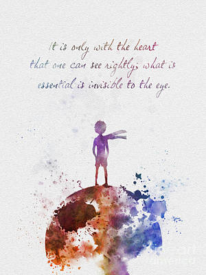 Princes Mixed Media - Le Petit Prince by Rebecca Jenkins