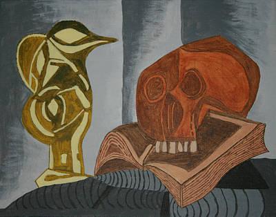 Tete Painting - Le Pichet Noir Et La Tete De Mort by Ryan Flanagan