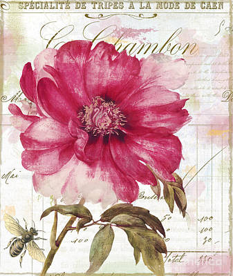French Script Painting - Le Pink  by Mindy Sommers