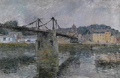 Le Pont Delbeuf Art Print by MotionAge Designs