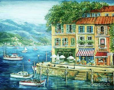 Awnings Painting - Le Port by Marilyn Dunlap