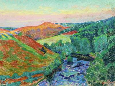 Le Puy Barriou Landscape Of The Creuse. Art Print by Armand Guillaumin