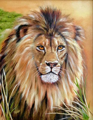 Painting - Le Roi-the King, Tribute To Cecil The Lion   by Dr Pat Gehr