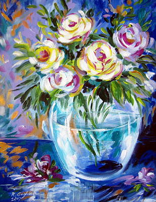 Painting - Le Rose Bianche by Roberto Gagliardi