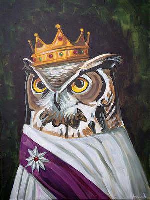 Le Royal Owl Art Print