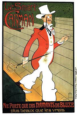 Mixed Media - Le Smart Carman - Diamonds - Vintage Advertising Poster by Studio Grafiikka