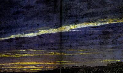 Galerie Painting - Le Soir  Huile Sur Carton 1824 12,5 X 21,2 Cm  Vienne, Osterreichische Galerie Im Belvedere By Caspa by Celestial Images