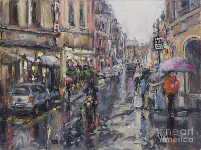 Painting - Le Strade Di Roma, The Streets Of Rome by Kristen Olson Stone