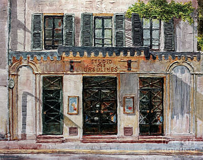 Painting - Le Studio Des Ursulines by Joey Agbayani