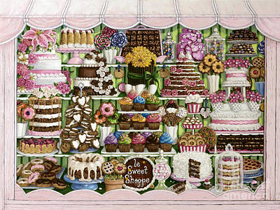 Painting - Le Sweet Shoppe by Janet Kruskamp