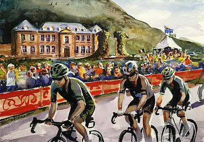 Shirley Painting - Le Tour - Chateau De Gudanes by Shirley Peters