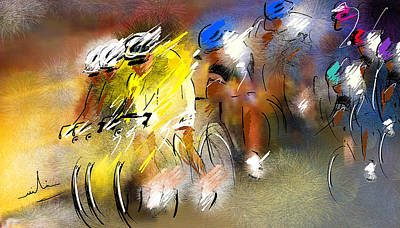 Sports Paintings - Le Tour de France 05 by Miki De Goodaboom