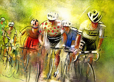 Sports Paintings - Le Tour de France 07 by Miki De Goodaboom