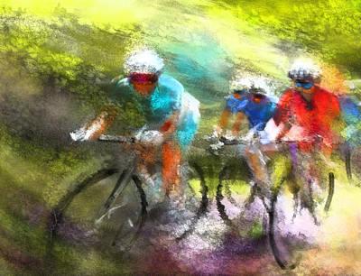 Sports Paintings - Le Tour de France 11 by Miki De Goodaboom