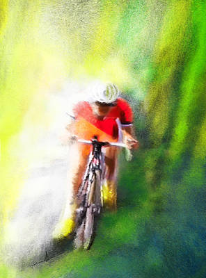 Sports Paintings - Le Tour de France 12 by Miki De Goodaboom