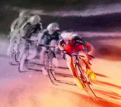 Art Miki Painting - Le Tour De France 13 by Miki De Goodaboom