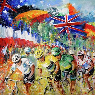 Painting - Le Tour De Triomphe Dyptic 01 by Miki De Goodaboom