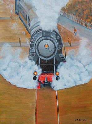 Painting - Le Train by Jean-Pierre Ducondi