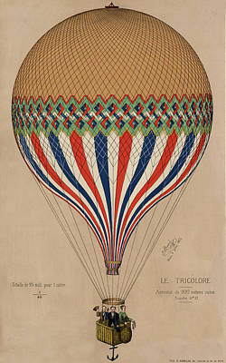 Drawing - Le Tricolore by Vintage Pix