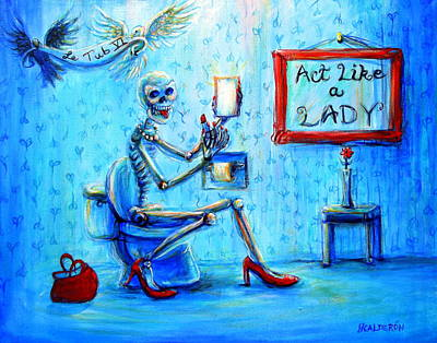 Painting - Le Tub Vi by Heather Calderon