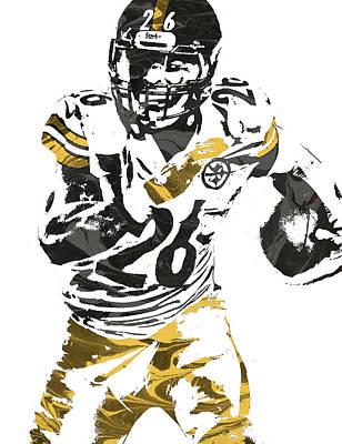Steelers Mixed Media - Le Veon Bell Pittsburgh Steelers Pixel Art 2 by Joe Hamilton