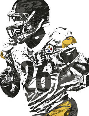 Pittsburgh Steelers Mixed Media - Le Veon Bell Pittsburgh Steelers Pixel Art 3 by Joe Hamilton
