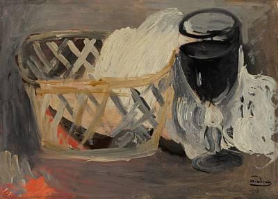 Table Cloth Painting - Le Verre Noir by Mountain Dreams