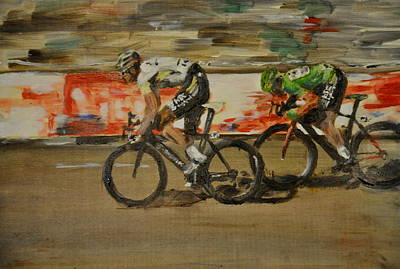 Velo Painting - Le Vert Vite by Lawrence Walton